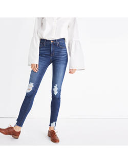 "Tall 9"" High-Rise Skinny Jeans: Destructed Edition"