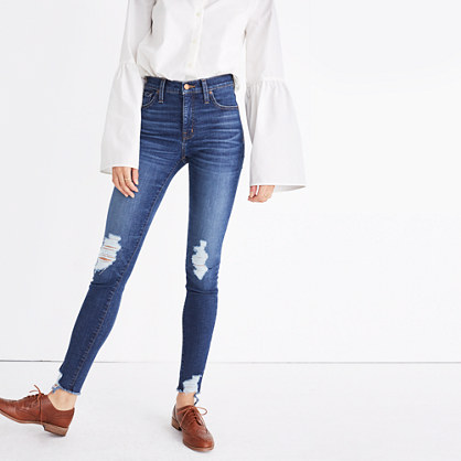 "Taller 9"" High-Rise Skinny Jeans: Destructed Edition"
