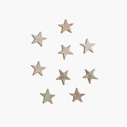 Metallic Leather Star Sticker Patch Set
