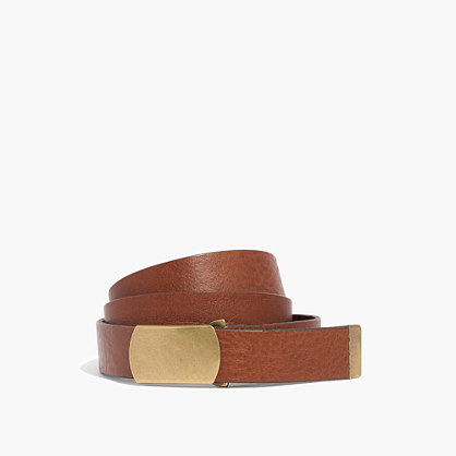 Leather Slide Buckle Belt