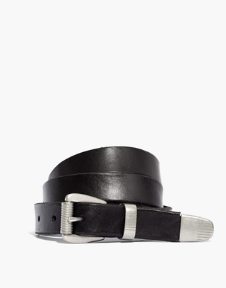 Leather Three-Piece Belt