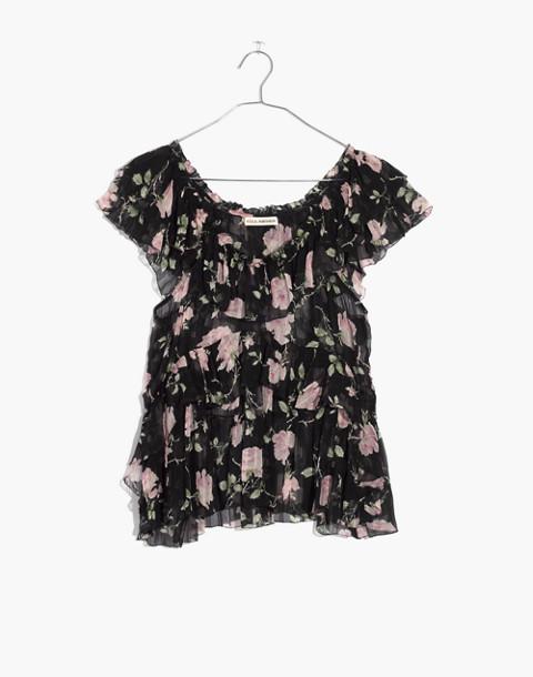 Ulla Johnson™ Silk Flora Ruffled Top