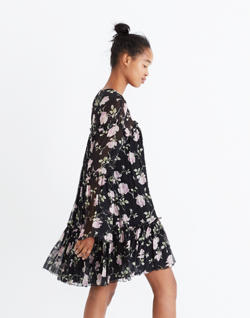 Ulla Johnson™ Silk Dahlia Floral Mini Dress