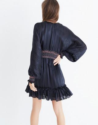 Ulla Johnson™ Silk Odette Smocked Mini Dress in midnight image 1