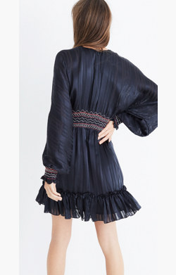 Ulla Johnson™ Silk Odette Smocked Mini Dress