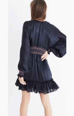 Ulla Johnson™ Silk Odette Smocked Mini Dress