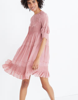 Ulla Johnson™ Embroidered Silk Evangeline Mini Dress