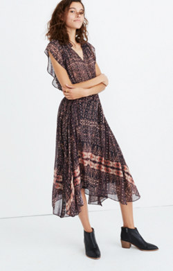 Ulla Johnson™ Silk Farah Printed Midi Dress