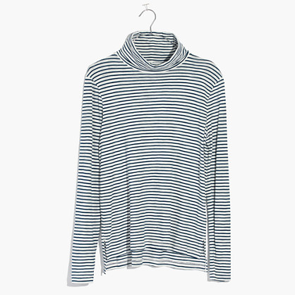 Whisper Cotton Turtleneck in Kadler Stripe