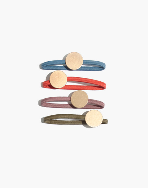 Four-Pack Disc Hair Ties