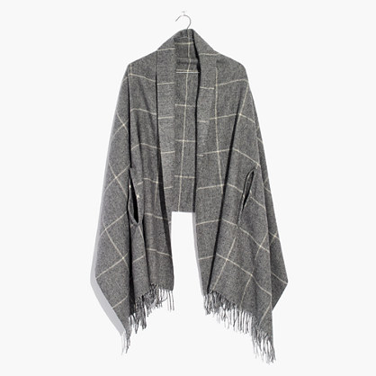 Micro-Check Cape Scarf