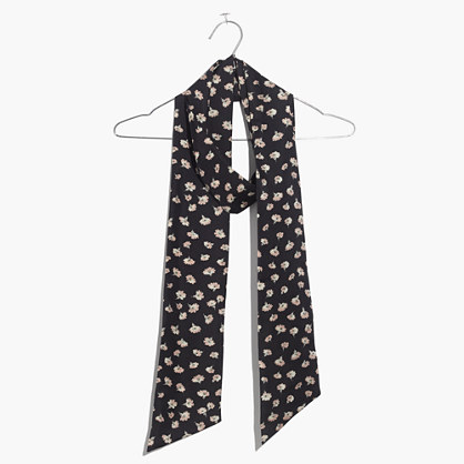 Slim Silk Scarf in Seattle Floral