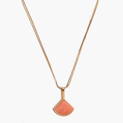 Fan Pendant Necklace