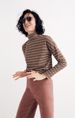 Boxy Turtleneck Top in Stripe