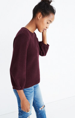 Shirred-Sleeve Top