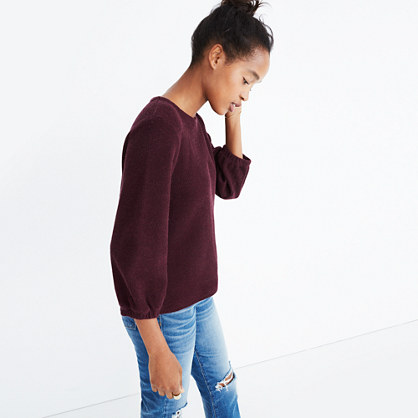 Shirred-Sleeve Top