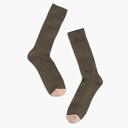 Mismatch Colorblock Trouser Socks