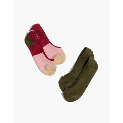 Two-Pack Colorblock Low-Profile Socks