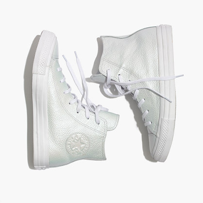 Converse® Chuck Taylor All Star High-Top Sneakers in Iridescent Leather