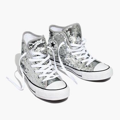 Converse® Chuck Taylor All Star High-Top Sneakers in Sequins