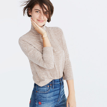 Boxy Turtleneck Top