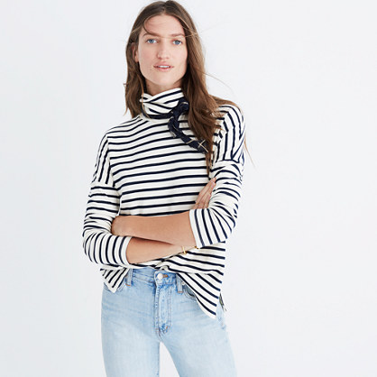 Sailor Stripe Turtleneck Top