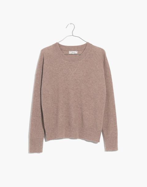 Cashmere Sweatshirt in hthr toast image 1