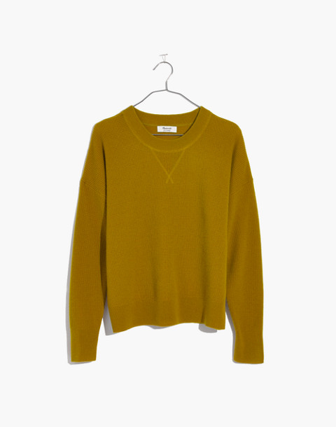 Cashmere Sweatshirt in bronzed amber image 1