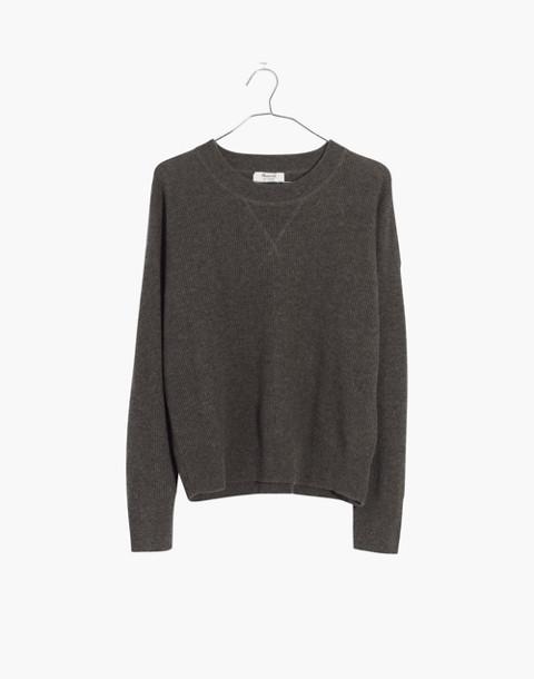 Cashmere Sweatshirt in hthr cargo image 1