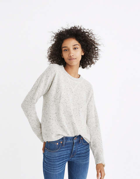 Cashmere Sweatshirt in ash donegal image 1