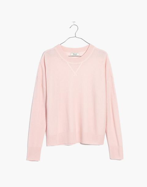 Cashmere Sweatshirt in palest blossom image 4