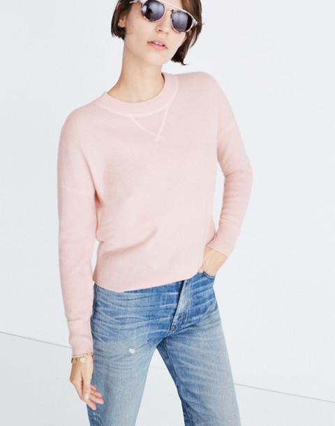 Cashmere Sweatshirt in palest blossom image 1