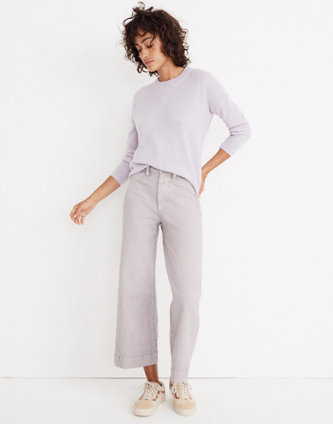 Cashmere Sweatshirt in dusted lavender image 2