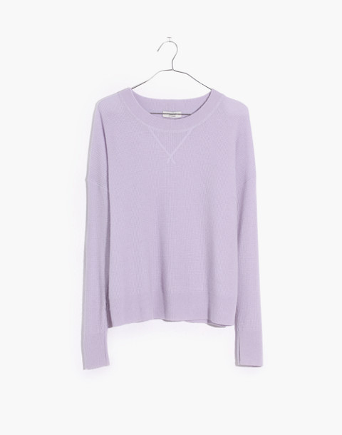 Cashmere Sweatshirt in dusted lavender image 4