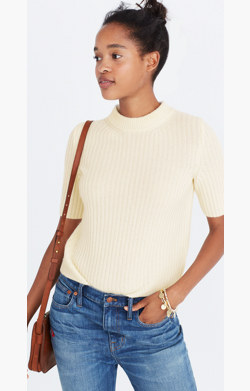Cashmere Mockneck Sweater Tee