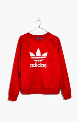 Adidas® Originals Trefoil Crewneck Sweatshirt in Red