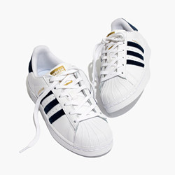 Adidas® Superstar™ Lace-Up Sneakers in Velvet