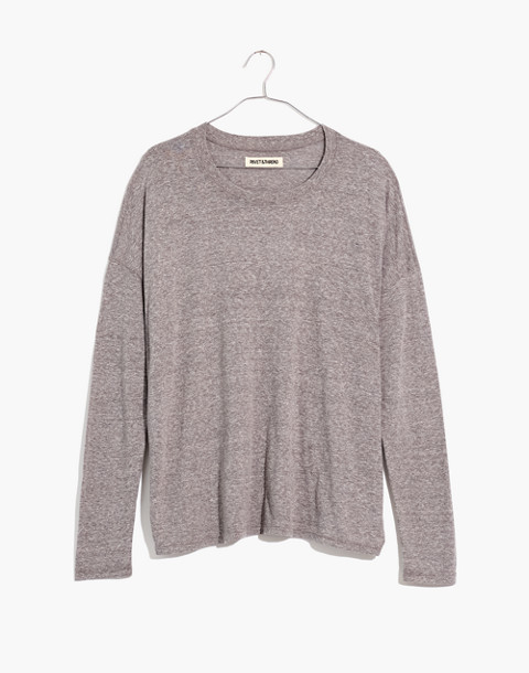 Long-Sleeve Tee in hthr grey image 4