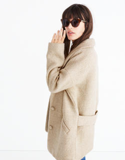 Sézane® Herringbone Coat