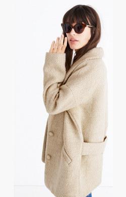 Sézane® Herringbone Coat