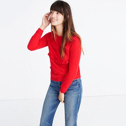 Sézane® Andréas Ruffled Sweater