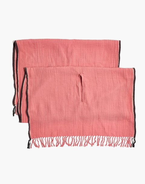 Selvedge Cape Scarf in porcelain pink image 2