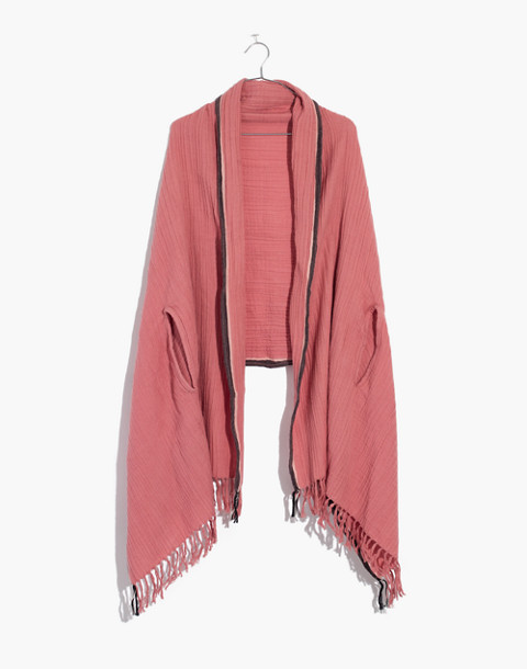 Selvedge Cape Scarf in porcelain pink image 1
