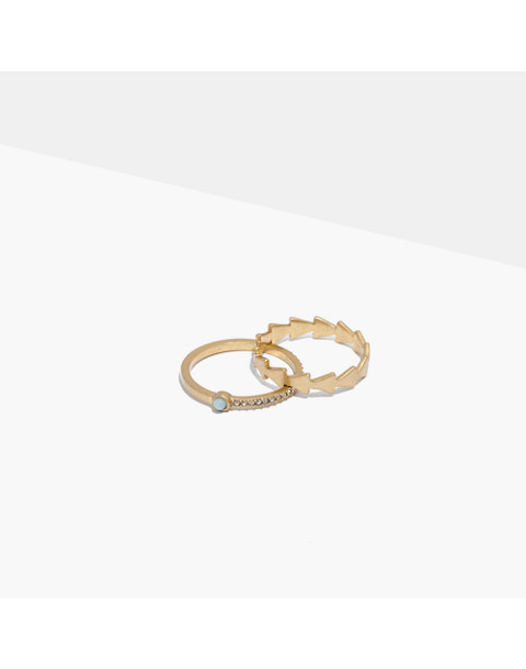 Amazonite Ring Set
