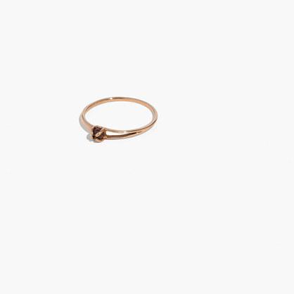 Demi-Fine Bronze Garnet Cutout Ring