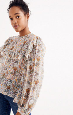 Karen Walker® Silk Unicorn Whisperer Print Top