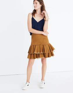 Karen Walker® Saddle Tiered Skirt