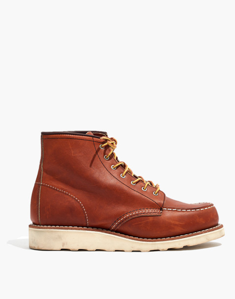 Red Wing® 6-Inch Moc Lace-Up Boots in oro brown image 2