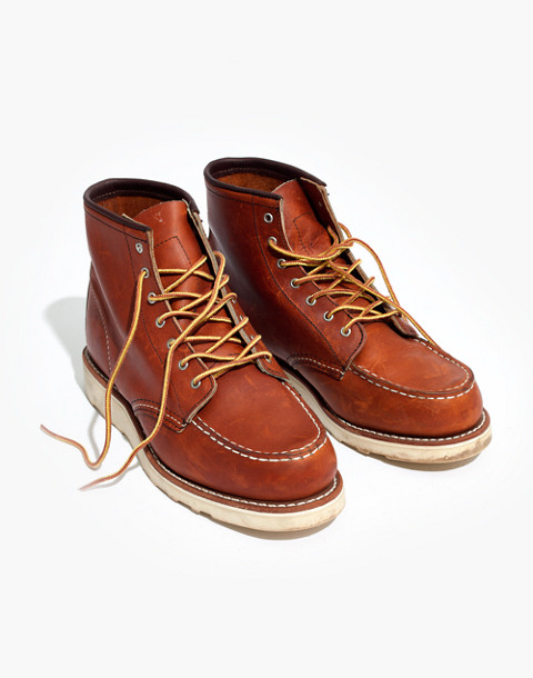 Red Wing® 6-Inch Moc Lace-Up Boots in oro brown image 1