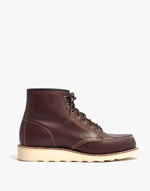 Red Wing® 6-Inch Moc Lace-Up Boots in mahogany image 3